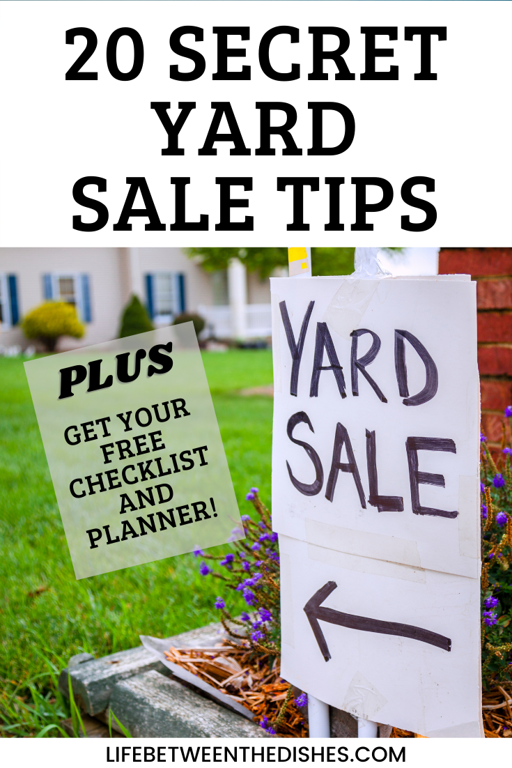 20 Secret Yard Sale Tips with yard sale sign image