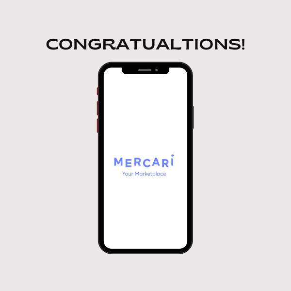 Cell Phone screen with Congratulations
