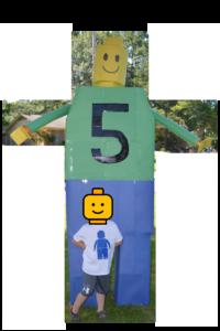 Giant DIY Cardboard LEGO man figure