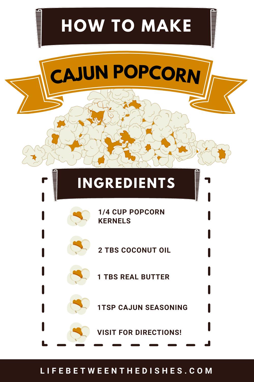 Ingredients for the Best Cajun Popcorn