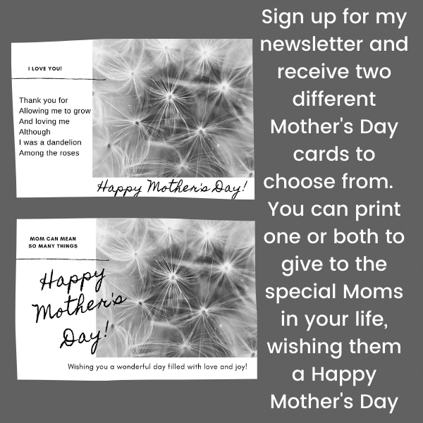 Dandelion Seed Puff Mother's Day Wishes cards