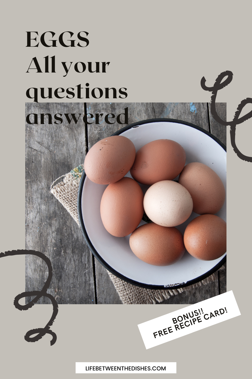 Image of whole eggs with blog post title
