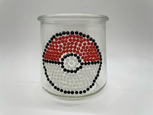 Pokemon Ball Diamond Painting on Glass Oui Jar