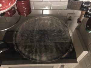 Scratched Glass-top Stovetop