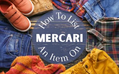 How to List An Item On The Mercari App