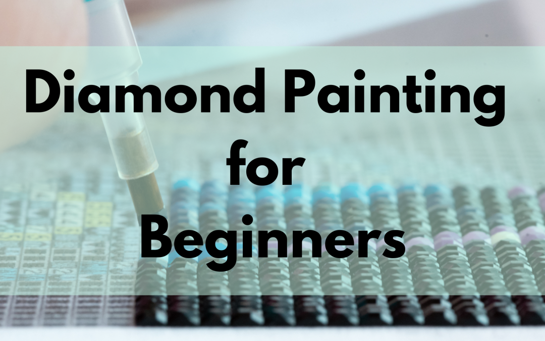 Diamond Painting with black drills and a stylus